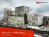 Christian Faber, SBB Immobilien - Europaallee Zürich