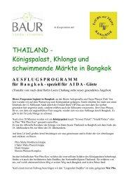 THAILAND - Königspalast, Khlongs und schwimmende Märkte in ...