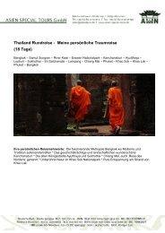 Meine persönliche Traumreise (18 Tage) - Thailand Special Tour