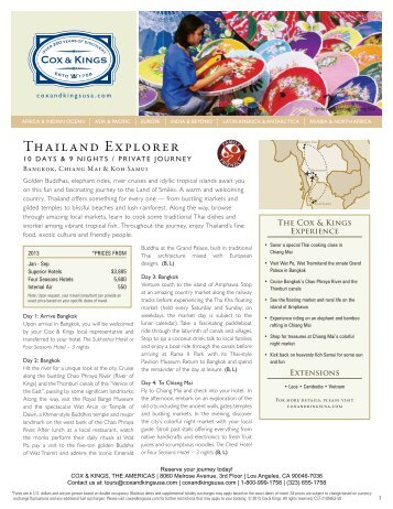 Thailand Explorer - Cox & Kings
