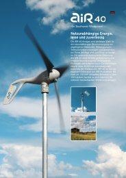 Netzunabhängige Energie, leise und zuverlässig - SBG ...