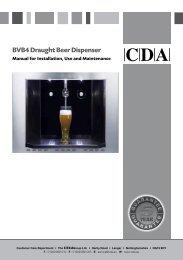 BVB4 Draught Beer Dispenser - CDA