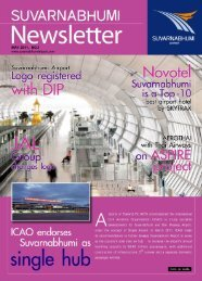 Newsletter May 2011, No.3 - Suvarnabhumi Airport