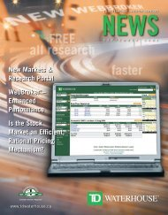 New Markets & Research Portal WebBroker ... - TD Waterhouse