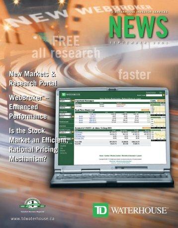 New Markets & Research Portal WebBroker ... - TD Waterhouse