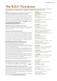 The KILU Newsletter.
