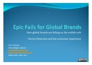How global brands are failing on the mobile web ... - DetectRight