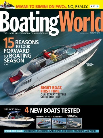4NEW BOATS TESTED