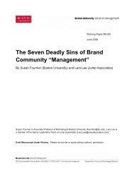 The Seven Deadly Sins of Brand Community ... - Boston University