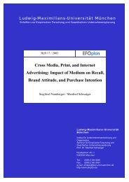Cross Media, Print, and Internet Advertising - Institute for Market ...