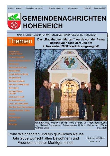 Dr. med. Yosry ZAWIA Gemeinde- und ... - Marktgemeinde Hoheneich