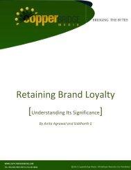 Retaining Brand Loyalty - Tutorials Point