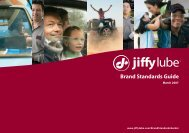 Brand Standards Guide - Jiffy Lube