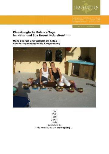 Kinesiologische Balance Tage im Natur und Spa Resort Holzleiten****