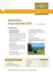Holzleitner Freundetreffen 2011 15. bis 22. Oktober