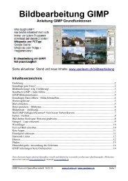 Bildbearbeitung GIMP - Userlearn.ch