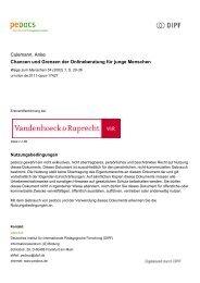 Culemann, Anke Chancen und Grenzen der Onlineberatung für ...