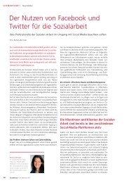 Der Nutzen von Facebook und Twitter für die ... - Sozialinfo.ch