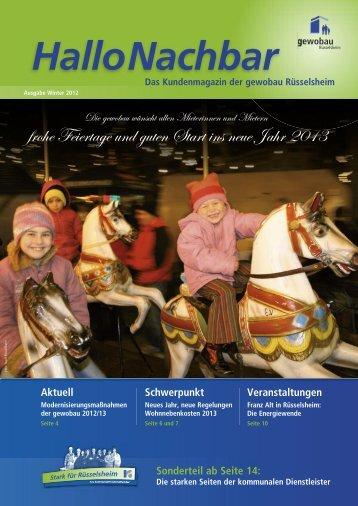 können Sie die aktuelle Ausgabe (Winter 2012 - Stadtwerke ...