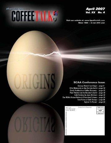 April 2007 CoffeeTalk - CoffeeTalk Magazine