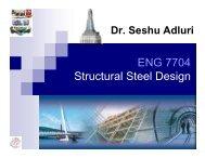 ENG 7704 Structural Steel Design