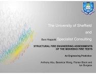 [min] T em p eratu re [°C ] - Structural Fire Engineering Research at ...