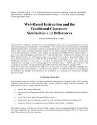 Web-Based Instruction and the Traditional Classroom ... - C3L