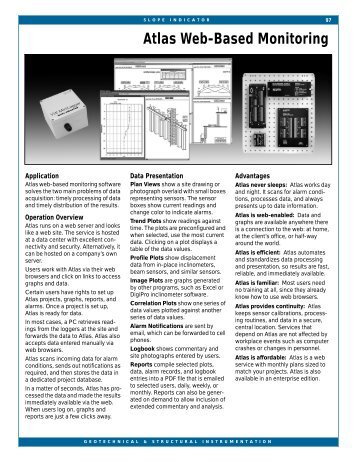 Atlas Web-Based Monitoring Software - Slope Indicator