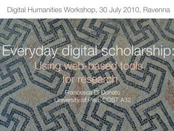 Using web-based tools for research - Judaica Europeana