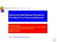 Advanced Web-Based Education: The Next Five Years and ... - UMUC