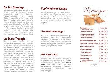 Broschüre: Massage - Physiotherapie Welmers
