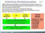 Ereignisse in Visual Basic .NET - Wirtschaftsinformatik HTW Berlin