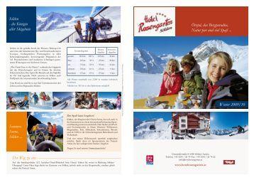 Preise Winter 2009/10 Herzlich willkommen im Hotel Rosengarten ...