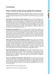 Firmen: Telefonie als Web-Lösung erübrigt TK-Investitionen - Sipgate
