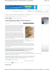 'Smart Fingertips' Pave Way for Virtual Sensations - Rogers ...