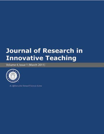Journal of Research in Innovative Teaching - National University