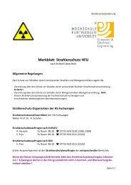 Merkblatt Strahlenschutz HFU