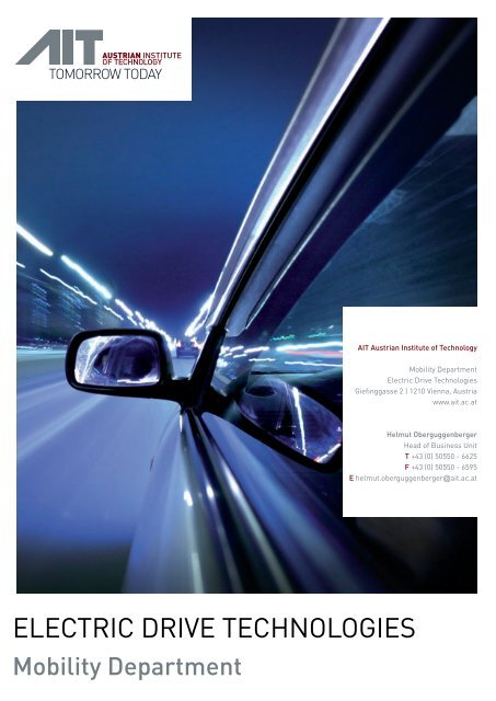 ELECTRIC DRIVE TECHNOLOGIES - AIT Austrian Institute of ...