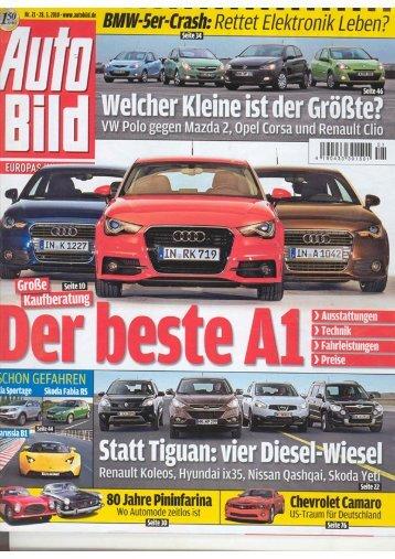 Autobild Kompakt SUV- Vergleichstest, Heft Nr. 21 28.05