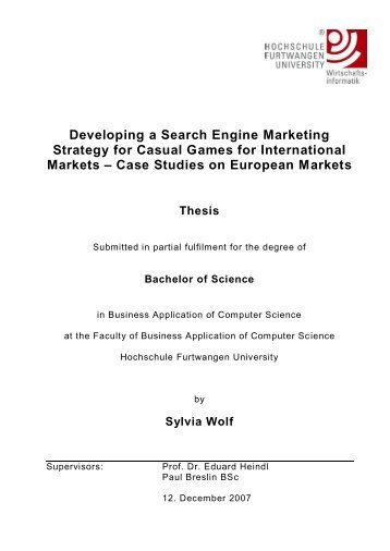 Developing a Search Engine Marketing strategy for casual games ...