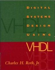 Digital system design using VHDL