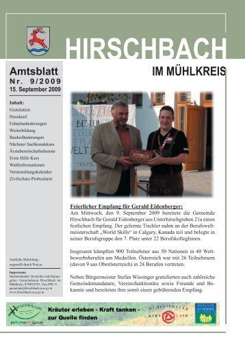 Amtsblatt Nr. 9/2009 15. September 2009 - Hirschbach