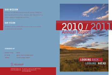 Annual Report 2010 - 2011 - AIDS Calgary