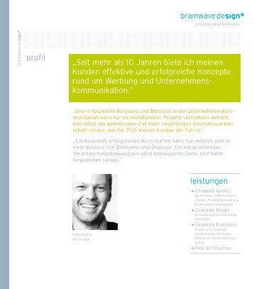"""""""Seit mehr als 10 Jahren biete ich meinen Kunden effektive und ..."""