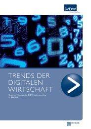 Trends der digiTalen WirTschafT - Bundesverband Digitale Wirtschaft