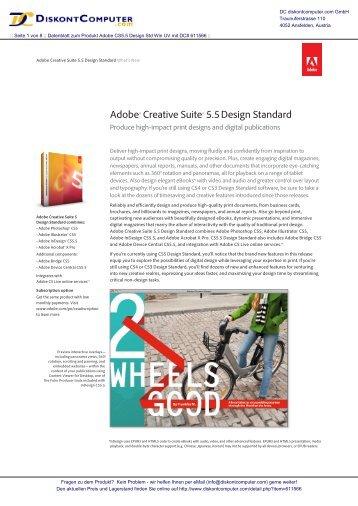 Adobe® Creative Suite® 5.5Design Standard - Diskontcomputer