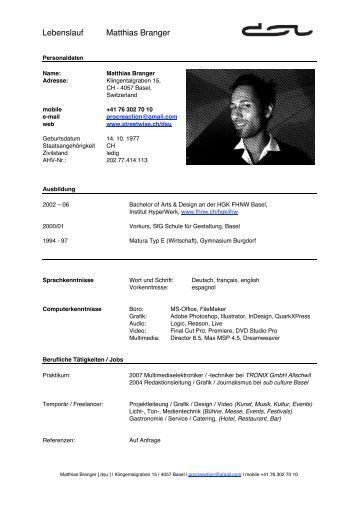 Charmant Lebenslauf Ingenieur Informatik Bilder - Entry Level Resume ...