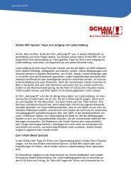 SCHAU HIN! Spezial: Tipps zum Umgang mit Cybermobbing Zum ...