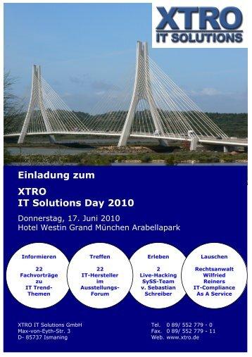 Einladung zum XTRO IT Solutions Day 2010