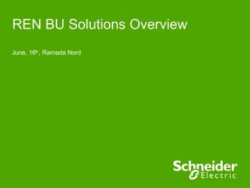 REN BU Solutions Overview - RETS Project